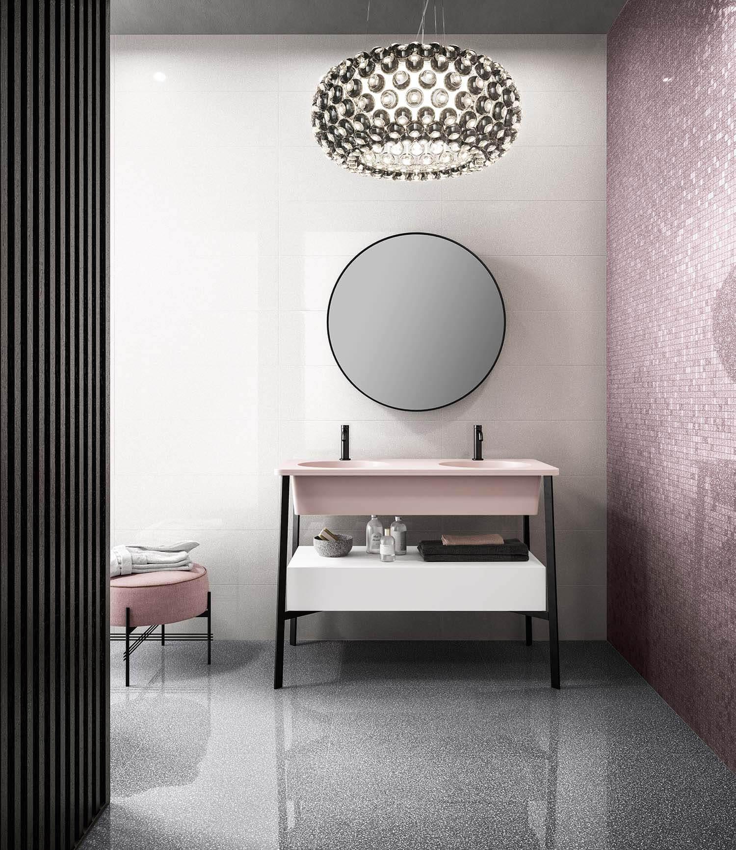 CSA_NEWDOT_Dotmosaic Mauve-Newdot Milk-Dotfloor Graphite 6060 Kry_bathroom