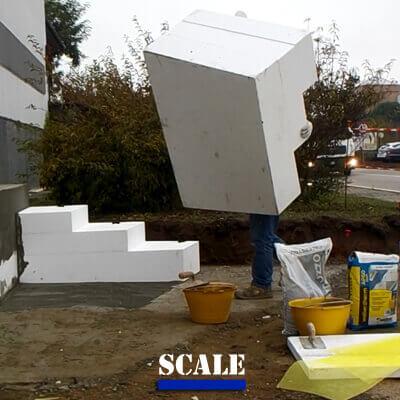 Scale in polistirolo