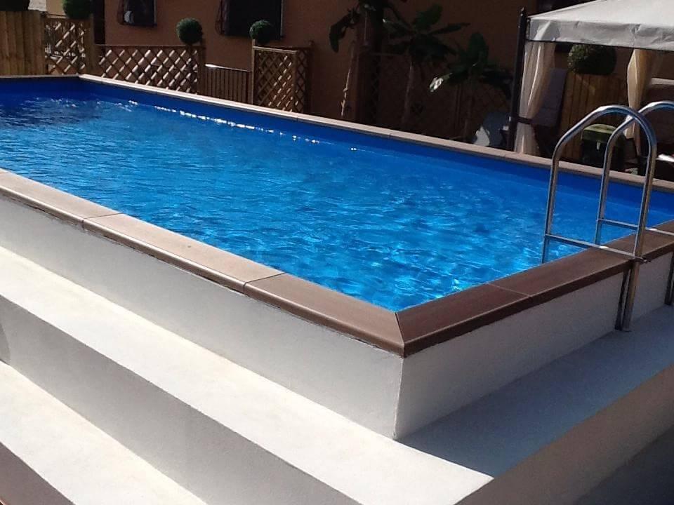 gradoni esterno piscina su misura