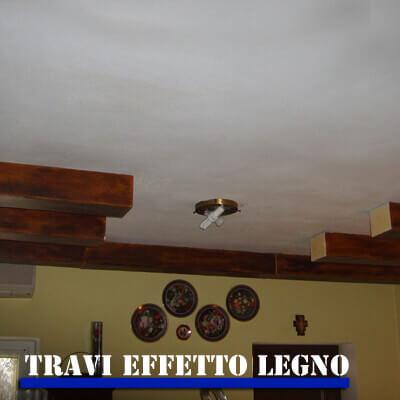 Travi in polistirolo effetto legno su misura