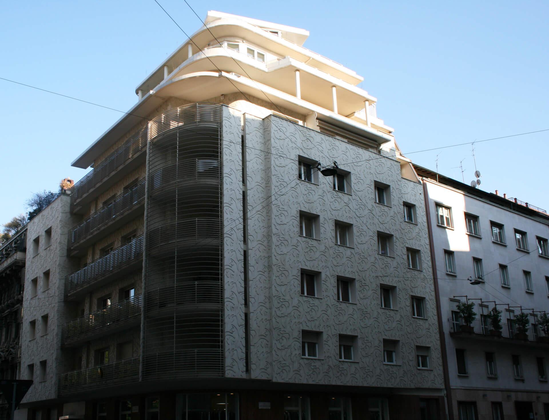 facciata decorativa effetto damasco