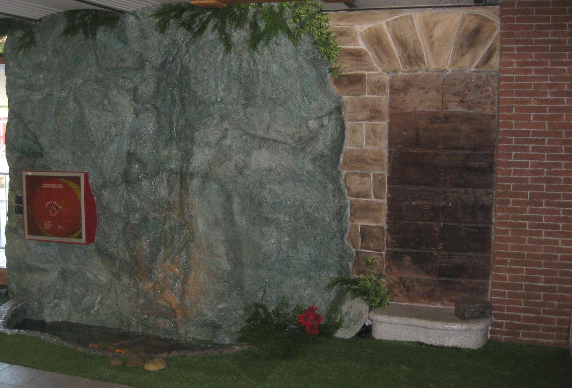 Parete roccia mattone pietra