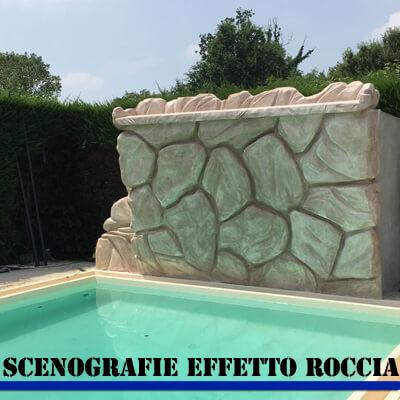 Scenografie per piscine effetto roccia